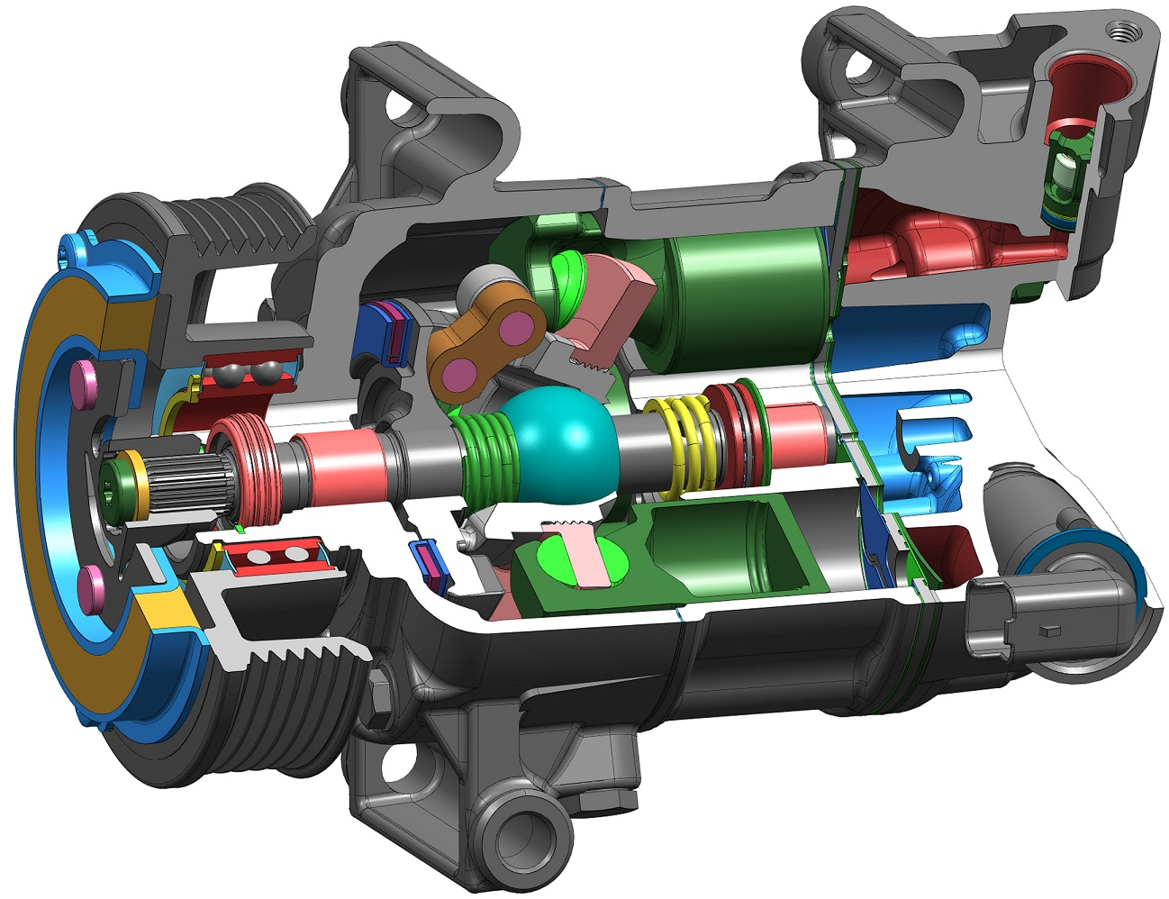 Delphi 5 Cylinder Cvc Compressor Walthamstow Central Garage